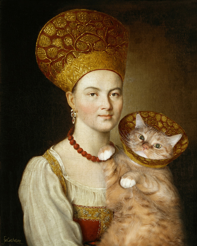 argunov_-portrait-of-an-unknown-woman-in-russian-costume-and-a-very-known-cat-in-a-vet-collar_fatcatart-w