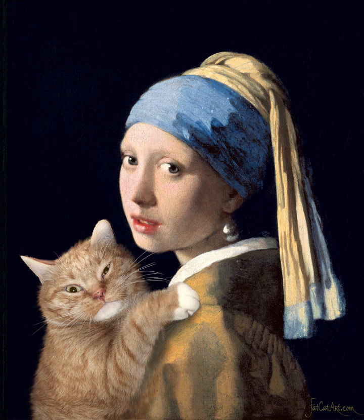 vermeer_girl_with_a_pearl_earring_and_ginger_cat-w