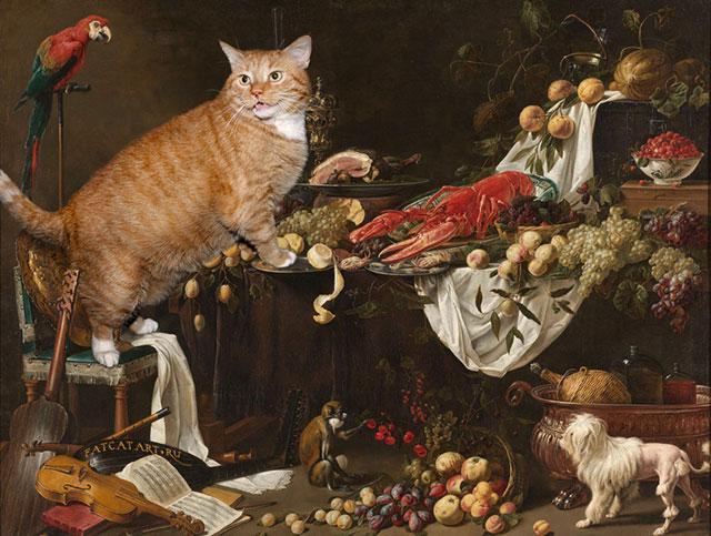 adriaen-van-utrecht-still-life-cat-w